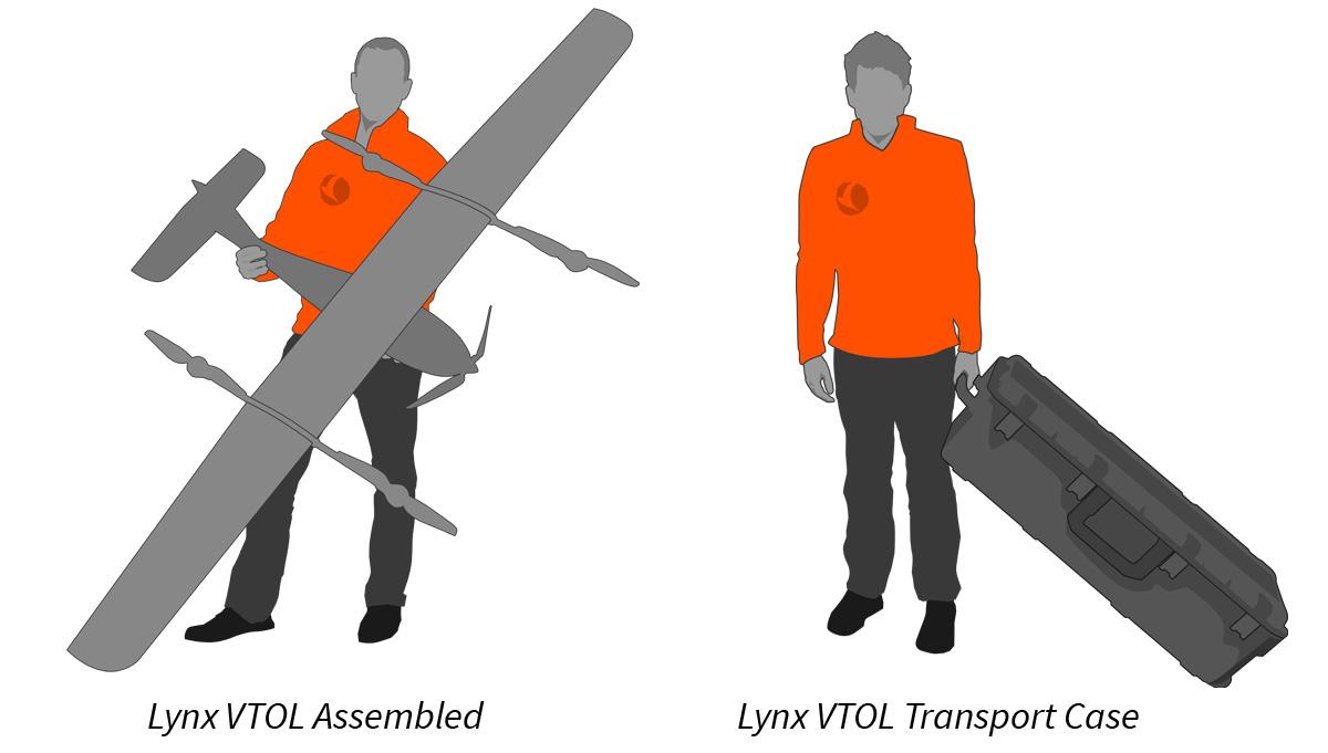 Lynx VTOL drone assembled