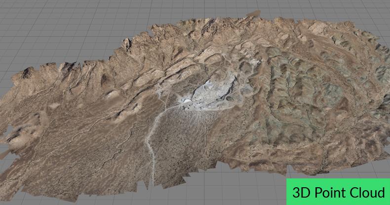 3D point cloud of a quarry in Agisoft Metashape